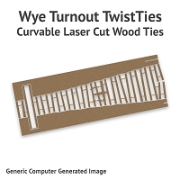 Curvable Laser Cut Wood Ties For On30 #4 Wyes