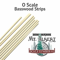 O Scale Stripwood, 1x2 16 Inches long. 6pcs.