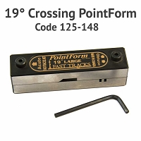 19° Crossing PointForm for Code 125 & 148 Rail