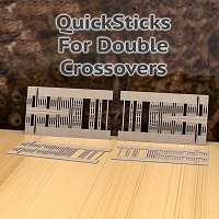 QuickSticks Laser Ties HO, #10 Double Crossovers