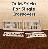 QuickSticks Laser Cut Ties For HO, #8 Single Crossovers