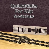 QuickSticks Laser Cut Ties For HO, #4 Slip Switches - Drilled