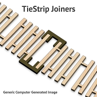 S TieClip Connector for Siding QuickSticks & TwistTie Strips
