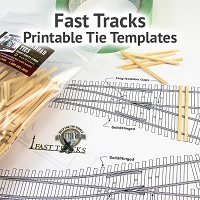 N Scale, #6 3-Way - Printable Track Template