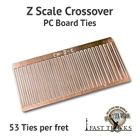 CopperHead Z Scale PC Board Crossover Ties - 1/32