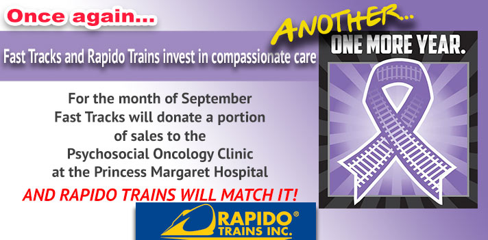 Rapido Trains and Fast Tracks team up to help cancer patients!