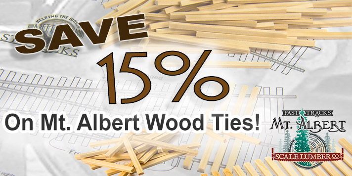 Save 15% on wood ties