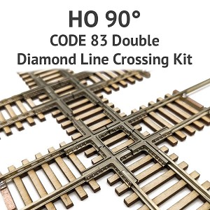 Diamond Line HO Scale, 90° Code 83 Double Crossing kit
