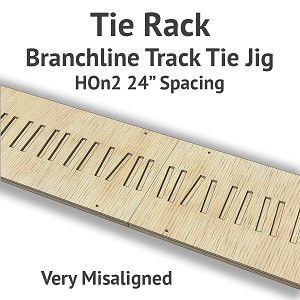 Tie Rack - Tie Jig for HOn2 Branchline - Very Misaligned