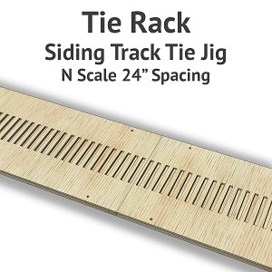 Tie Rack - Tie Jig for N Scale Siding Track