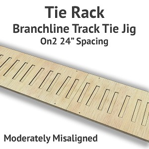 Tie Rack - Tie Jig for On2 Branchline - Moderately Misaligned