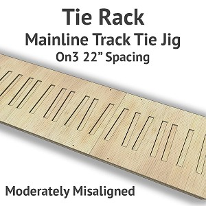Tie Rack - Tie Jig for On3 Mainline - Moderately Misaligned