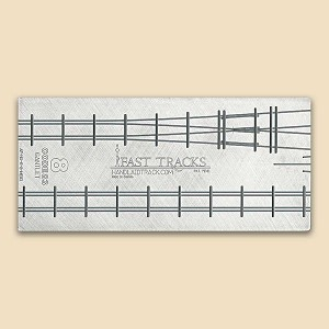 HO Scale, #8 Gantlet Track Assembly Fixture for Micro Engineering 83 Rail
