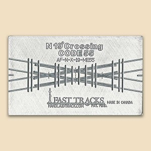 N Scale, 19° Crossing Assembly Fixture for Micro Engineering 55 Rail