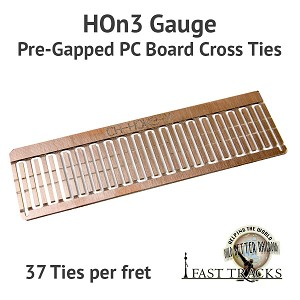 CopperHead HOn3 PC Board Pre-Gapped Crossties - 1/16""