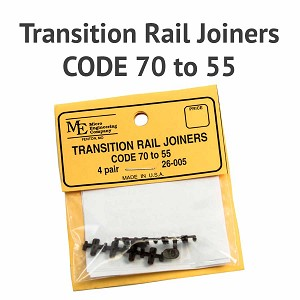 Transition Rail Joiners - Code 70 to 55