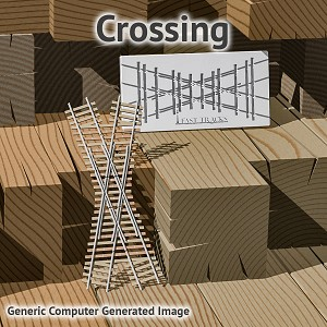 N Scale, 30° Crossing Assembly Fixture for Micro Engineering 40 Rail