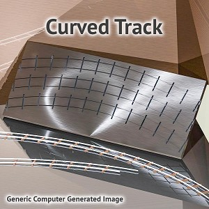 "HO Scale Siding, 26""R, 28""R, 30""R Curved Track Fixture for ME Code 70 Rail"