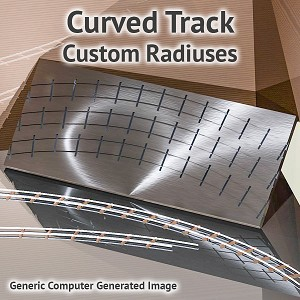 HO Scale, Curved Track Assembly Fixture for ME Code 100 Rail - Custom Radiuses