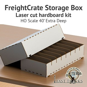 Freight Crate Rolling Stock Transport Box for HO scale 40' Equipment - Extra Deep Pockets