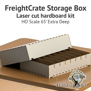 Freight Crate Rolling Stock Transport Box for HO scale 65' Equipment - Extra Deep Pockets