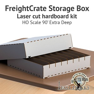 Freight Crate Rolling Stock Transport Box for HO scale 90' Equipment - Extra Deep Pockets