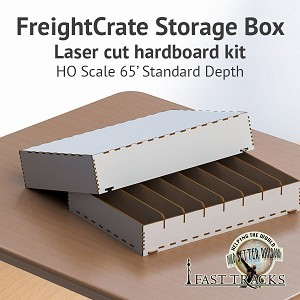 Freight Crate Rolling Stock Transport Box For HO Scale Equipment Up To 65' Long