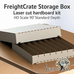 Freight Crate Rolling Stock Transport Box For HO Scale Equipment Up To 90' Long