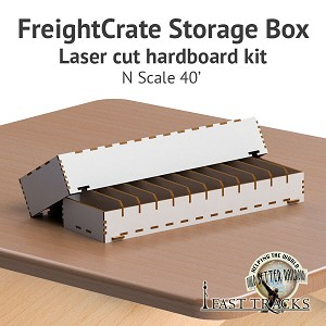 Freight Crate Rolling Stock Transport Box for N scale 40' Equipment