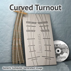 HO Scale, #6, 24R/18R Curved Turnout Fixture for Micro Eng 55 Rail
