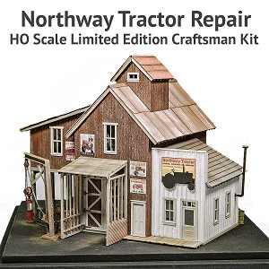 Northway Tractor Repair - HO Scale Limited Edition Craftsman Kit