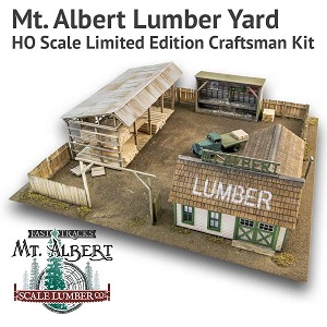 Mt. Albert Lumber Yard - HO Scale Limited Edition Craftsman Kit