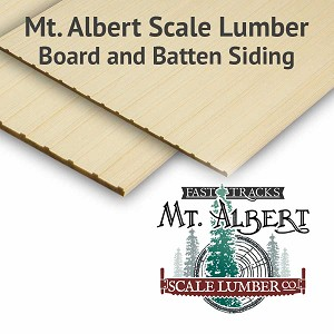 HO Scale Board and Batten Siding Sheets, 4x12 inches long - BULK