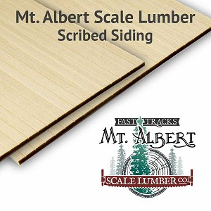 ".125"" Scribed Basswood Sheets, 4x12 inches long - BULK"