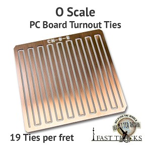 CopperHead O Scale PC Board Turnout Ties - 1/16""