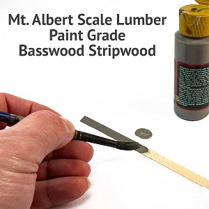 Paint Grade, O Scale Stripwood, 8x8 24 inches long. Bulk Quantities