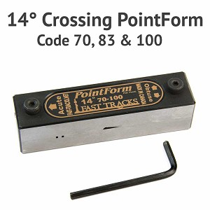 14° Crossing PointForm for Code 70, 83 & 100 Rail