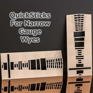 QuickSticks Laser Cut Ties For HOn3 #6 Wyes