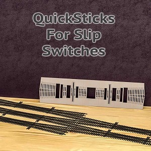 QuickSticks Laser Cut Ties For HO, #4 Slip Switches