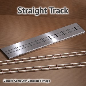 O Siding Straight Track Fixture for ME Code 100 Rail