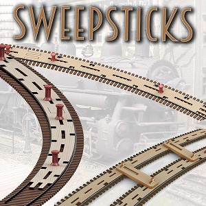 "Z Scale 6"" Radius SweepSticks"