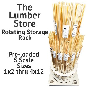 The Lumber Store Rotating Storage Rack Including S Scale 1x2 through 4x12