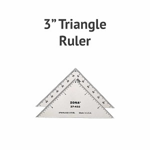 "Stainless Steel 3"". Triangle Ruler"