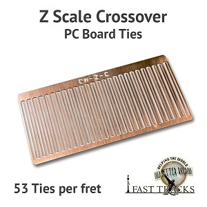 CopperHead Z Scale PC Board Crossover Ties - 1/32""